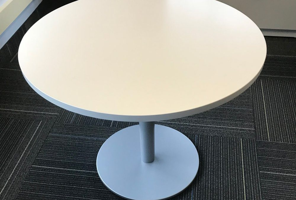 Flat disk round table base