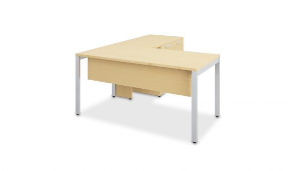 Typical L-Shaped Desk with Modesty Panel and Mixed Storage