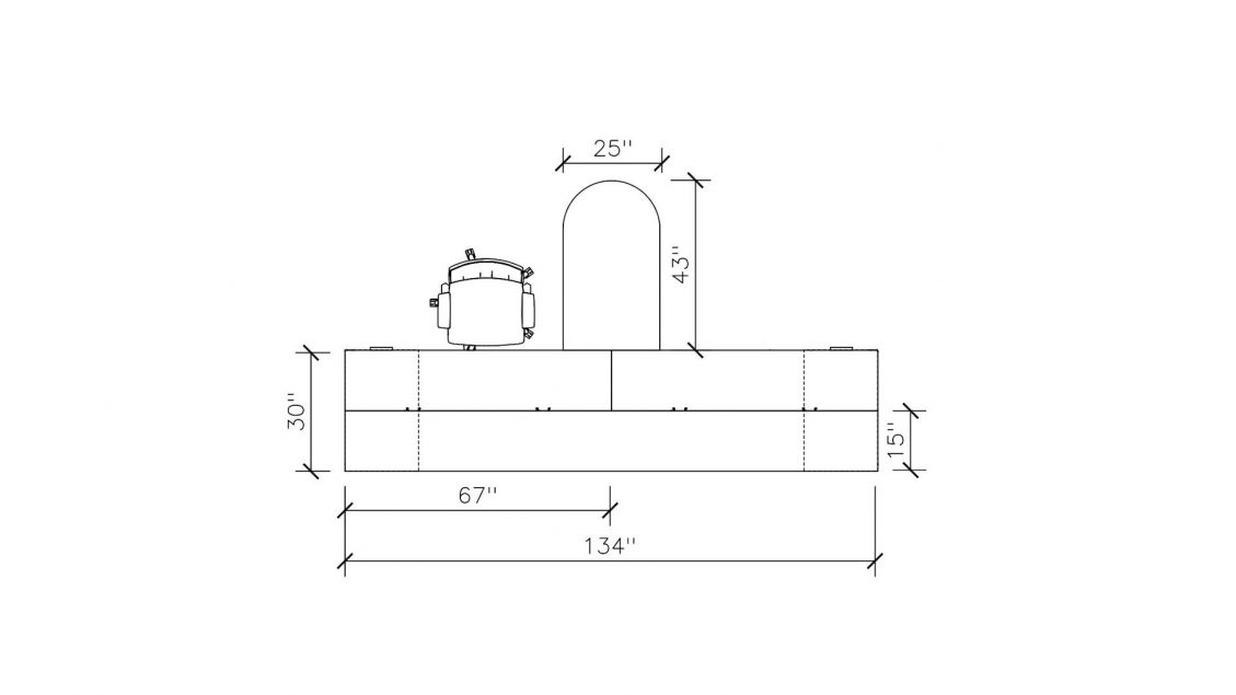 Dimensions of Shared Hutch 2385