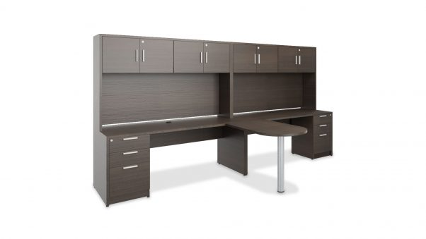 Hutch Share Office 2385 with Mixed Storage and Return