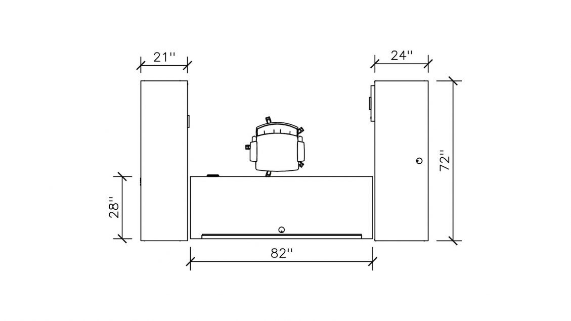 Dimensions of Typical Height Adjustable Desk 2395