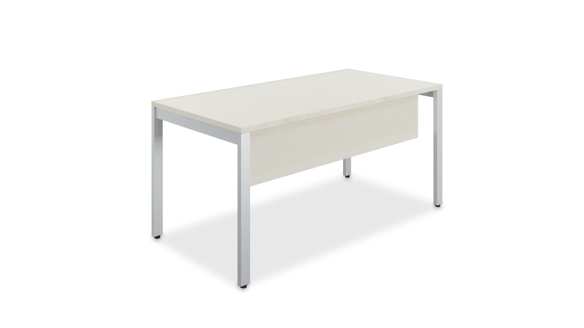 Four leg desk with modesty panel 2423