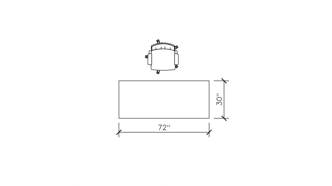 Dimensions of O-Leg Desk 763