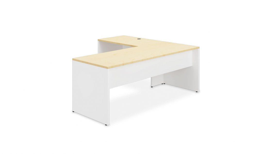 L-Desk 2431 in two laminate colours