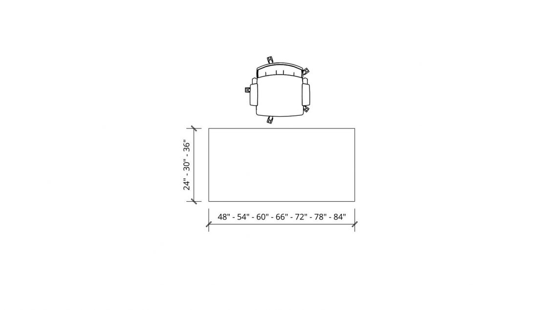 Dimensions of N-Leg Desk 762