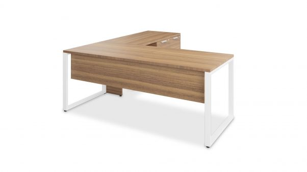 Typical O-Leg L-Desk with Mixed Storage