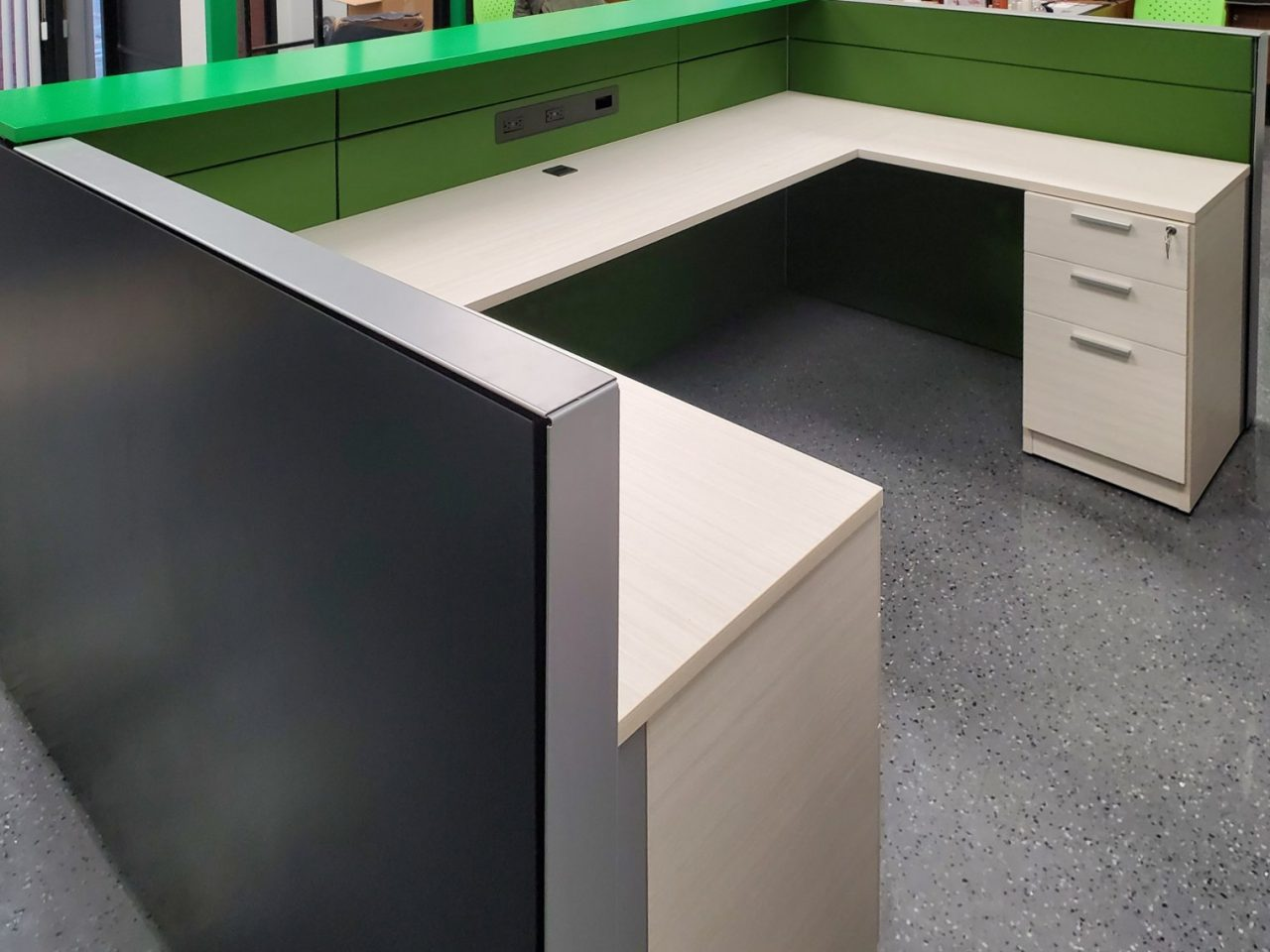 Reception Desk with Mixed Storage