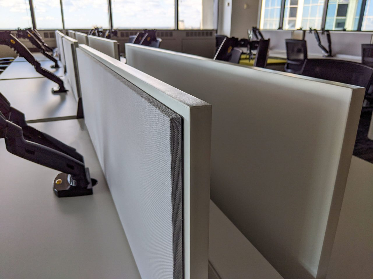 Screens on Sit-Stand Benching