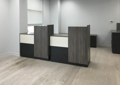 Custom modular Reception with Mixed Storage