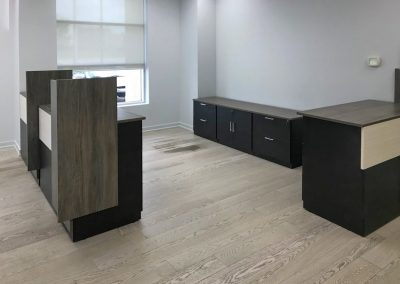 Custom modular Reception, Mixed Storage