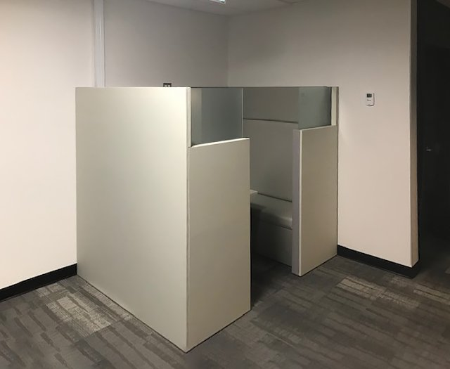 Booth for private conversations