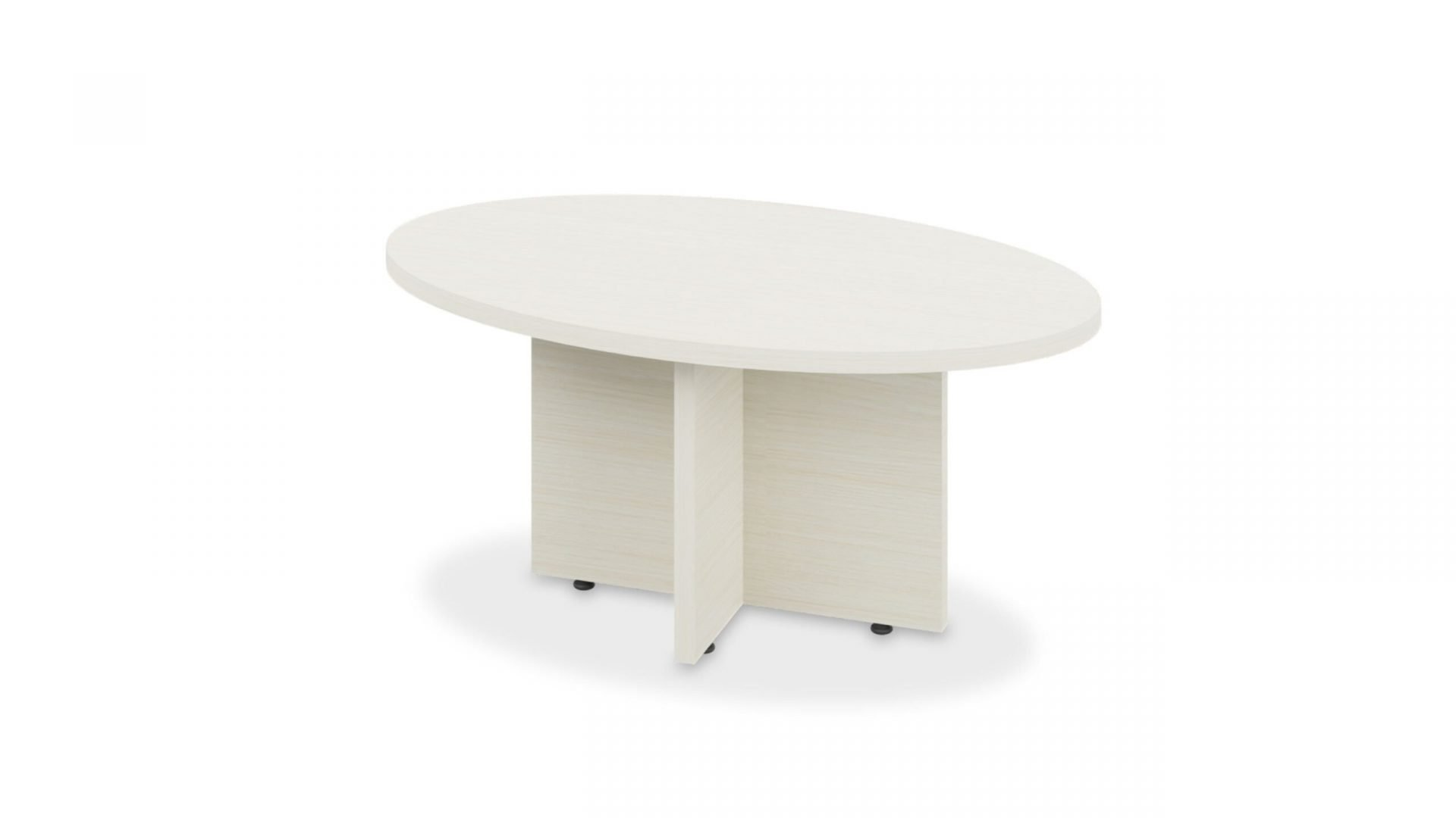 Oval Coffee Table 1619 with X-Base