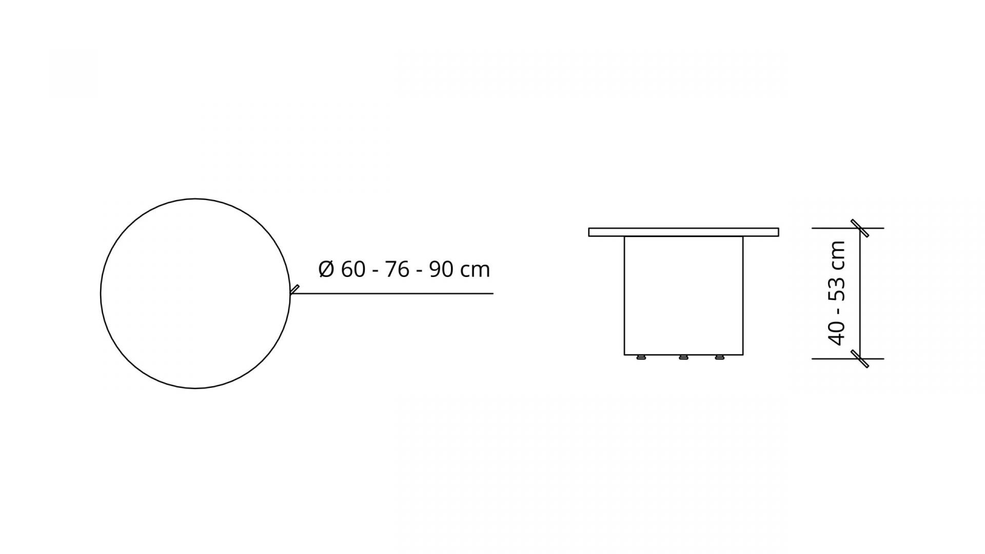 Dimensions of Round Coffee Table 1641