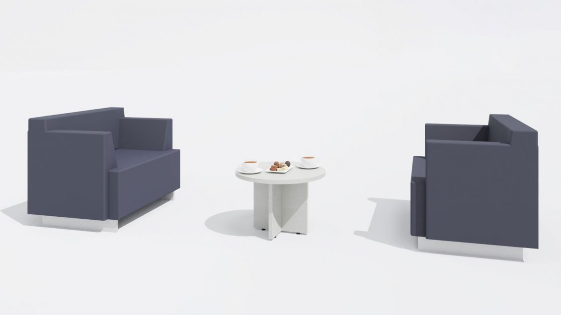 Coffee Table 1641 with two Chairs