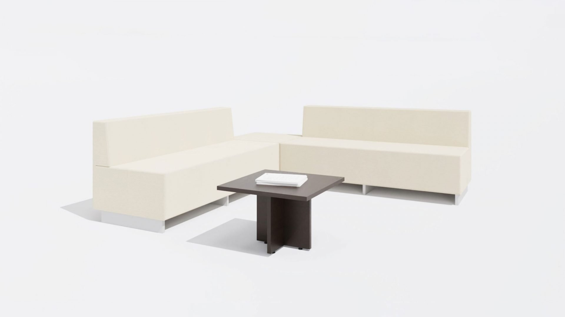 Square Coffee Table 1647 with Sofa