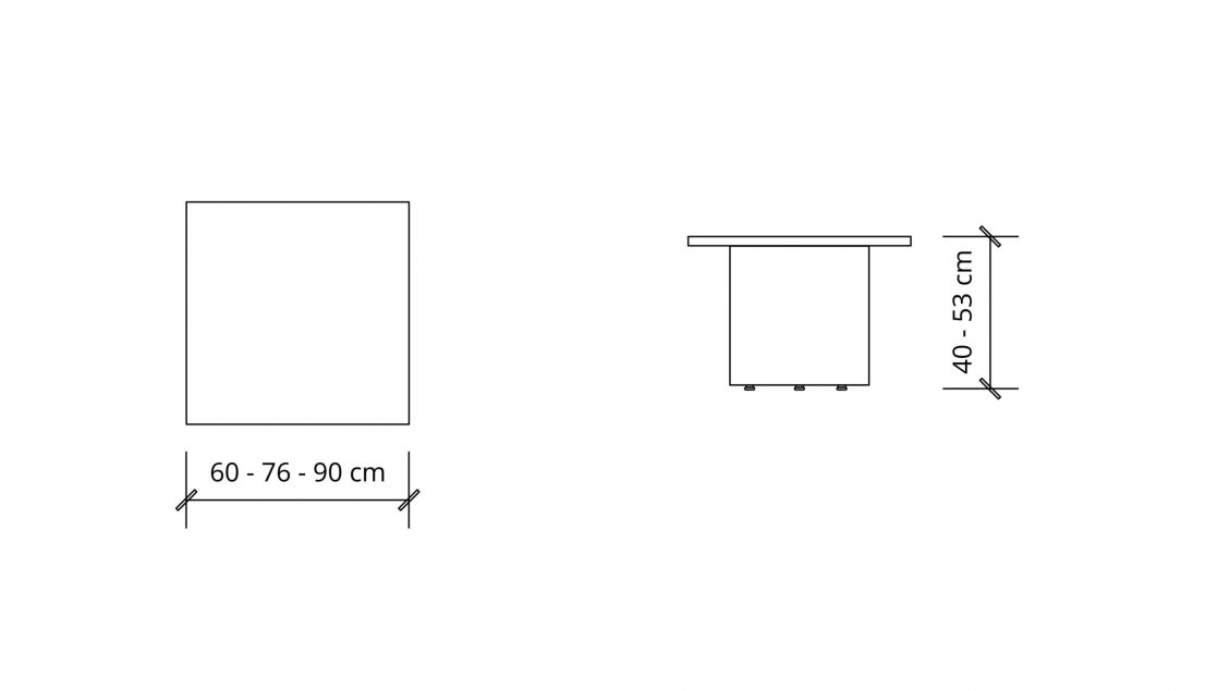 Dimensions of the Square Coffee Table 1648