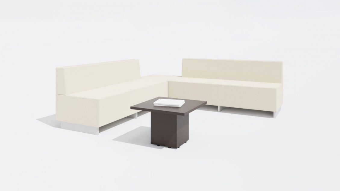 Square Coffee Table 1648 with Sofa