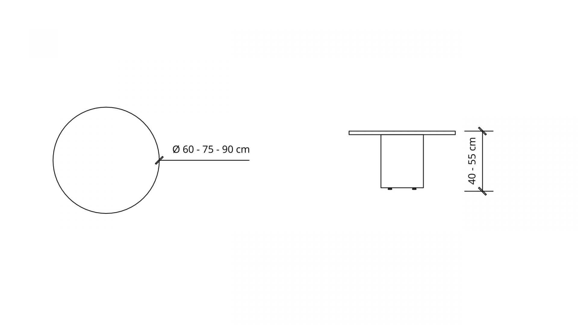 Dimensions of Round Coffee Table 1649