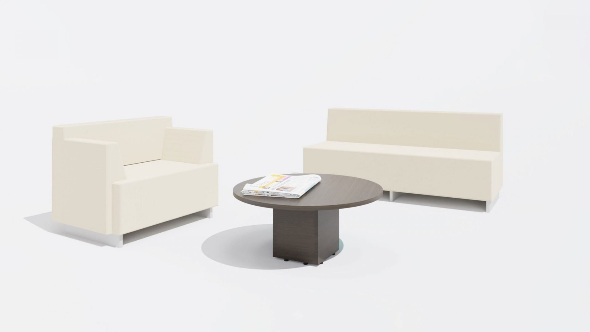 Round Coffee Table 1649 with Sofa