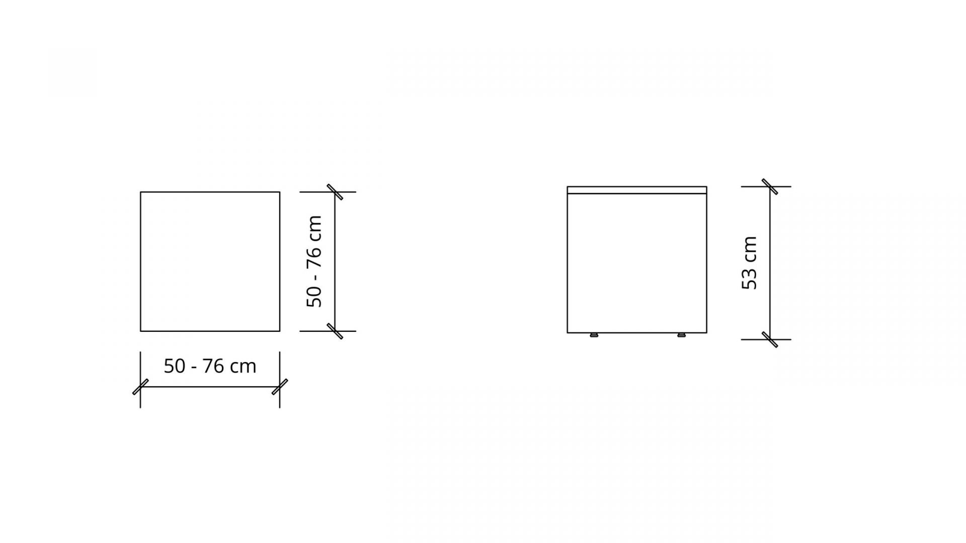 Dimensions of Square Coffee Table 1650