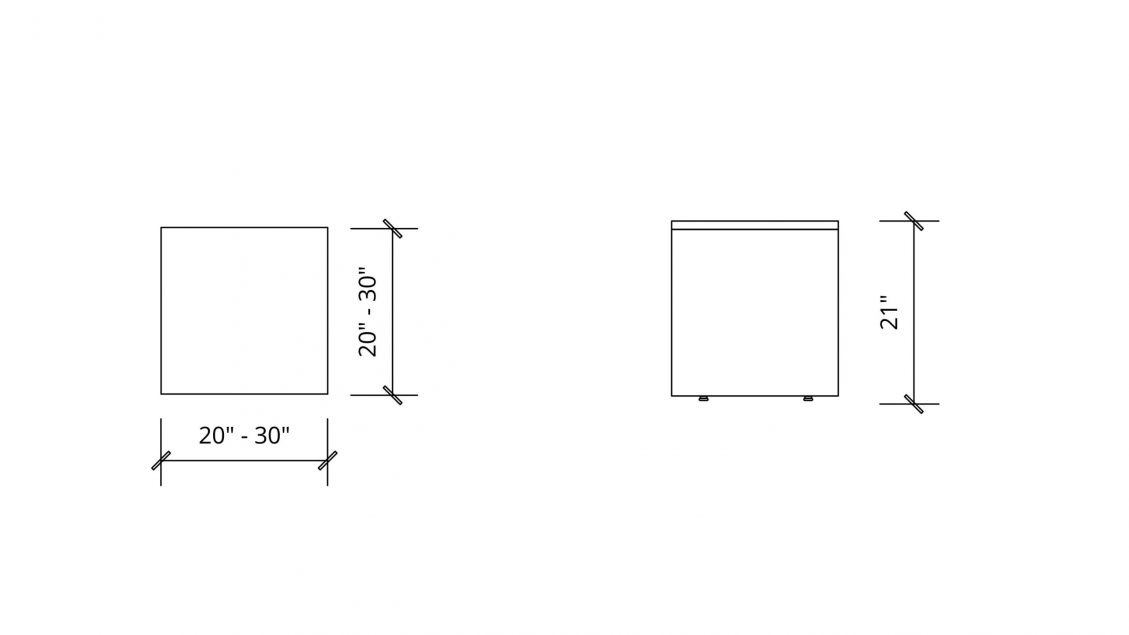 Imperial Dimensions of Square Coffee Table 1650