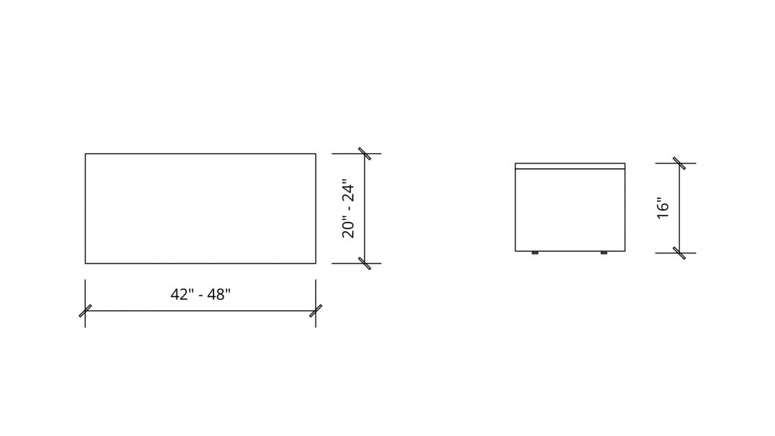 Imperial Dimensions of Rectangular Coffee Table 1651