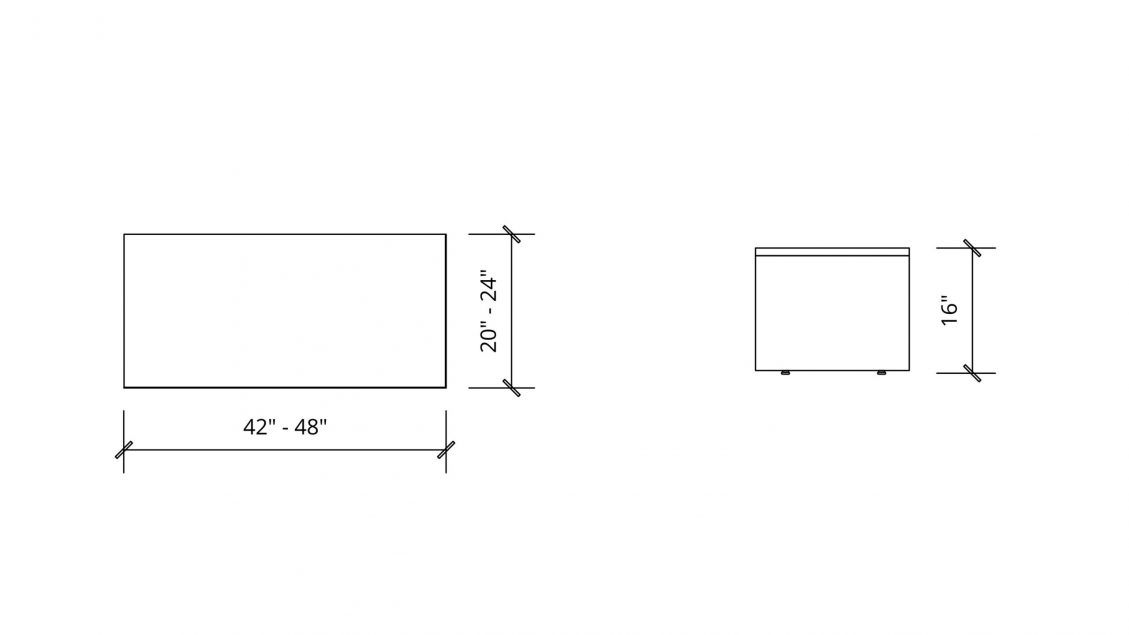 Imperial Dimensions of Rectangular Coffee Table 1653