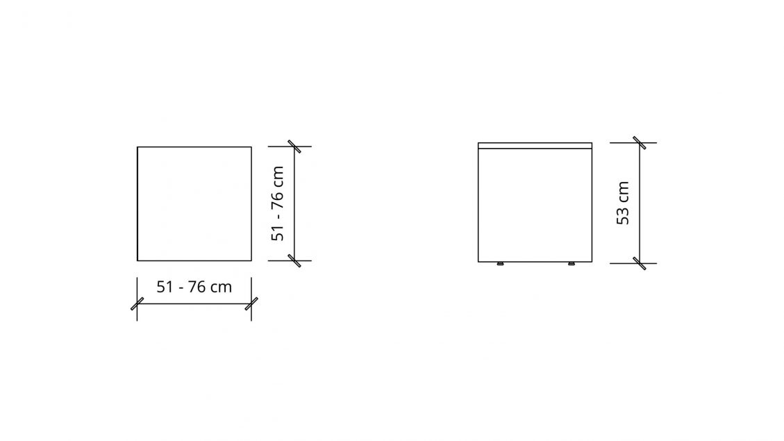 Dimensions of Square Coffee table 1654