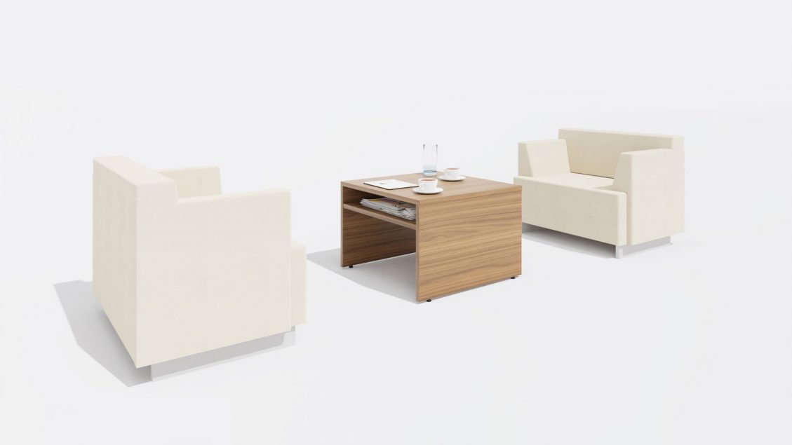 Square Coffee table 1654 with Chairs