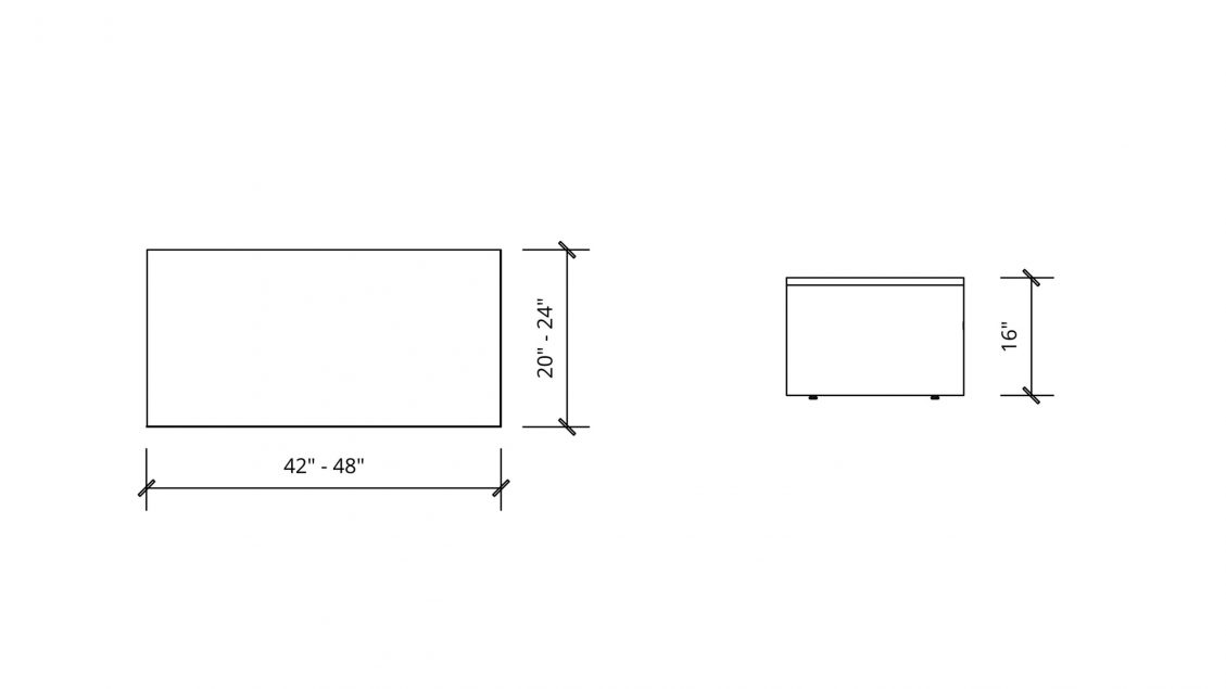 Imperial Dimensions of Rectangular Coffee Table 1655