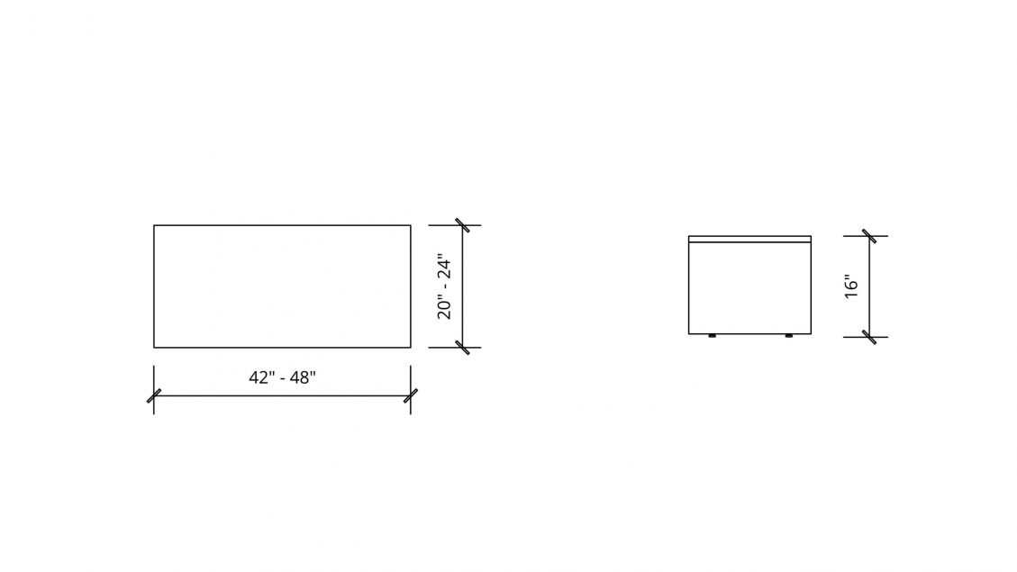 Imperial Dimensions of Rectangular Coffee Table 1656