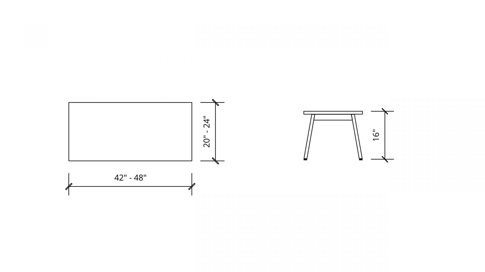 Imperial Dimensions of Rectangular Coffee Table 1657