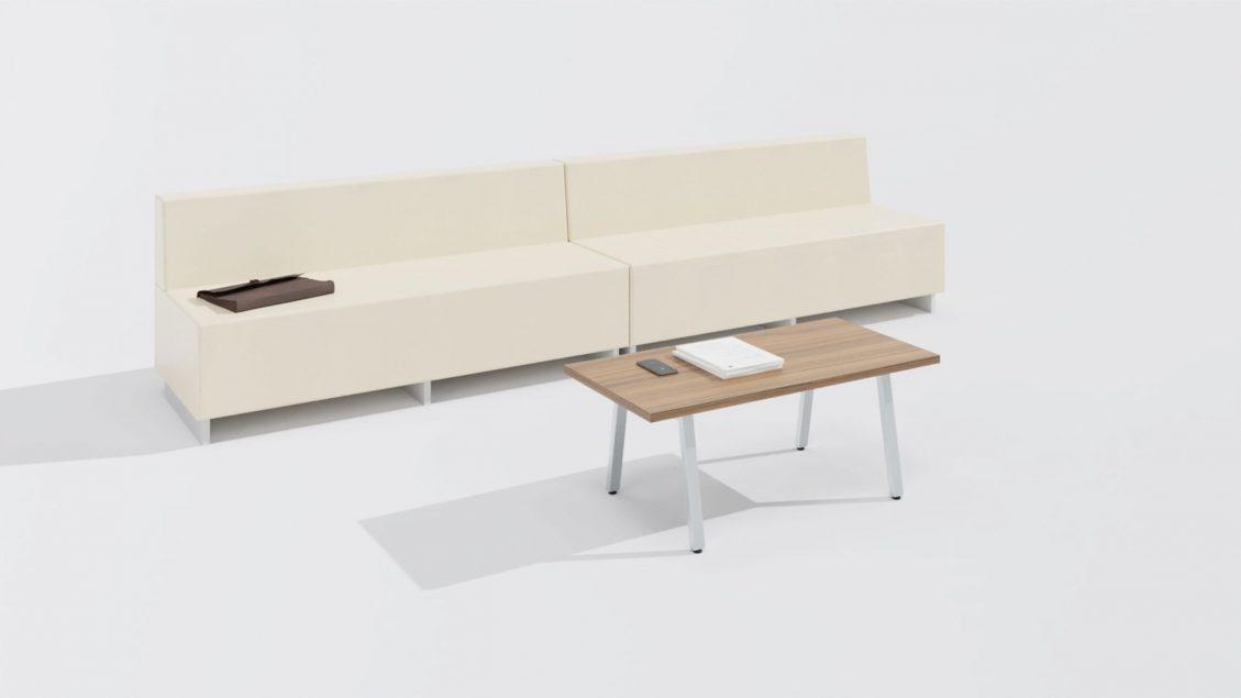 Rectangular Coffee Table 1657 with Sofa