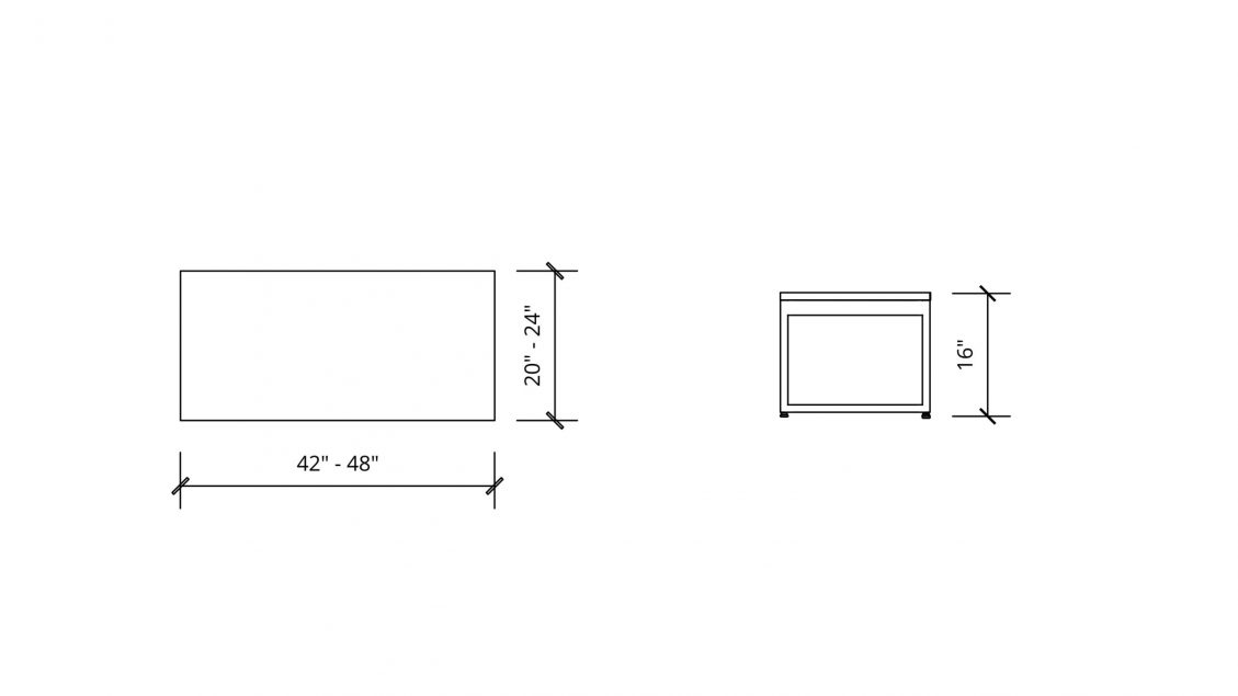 Imperial Dimensions of Rectangular Table 1658