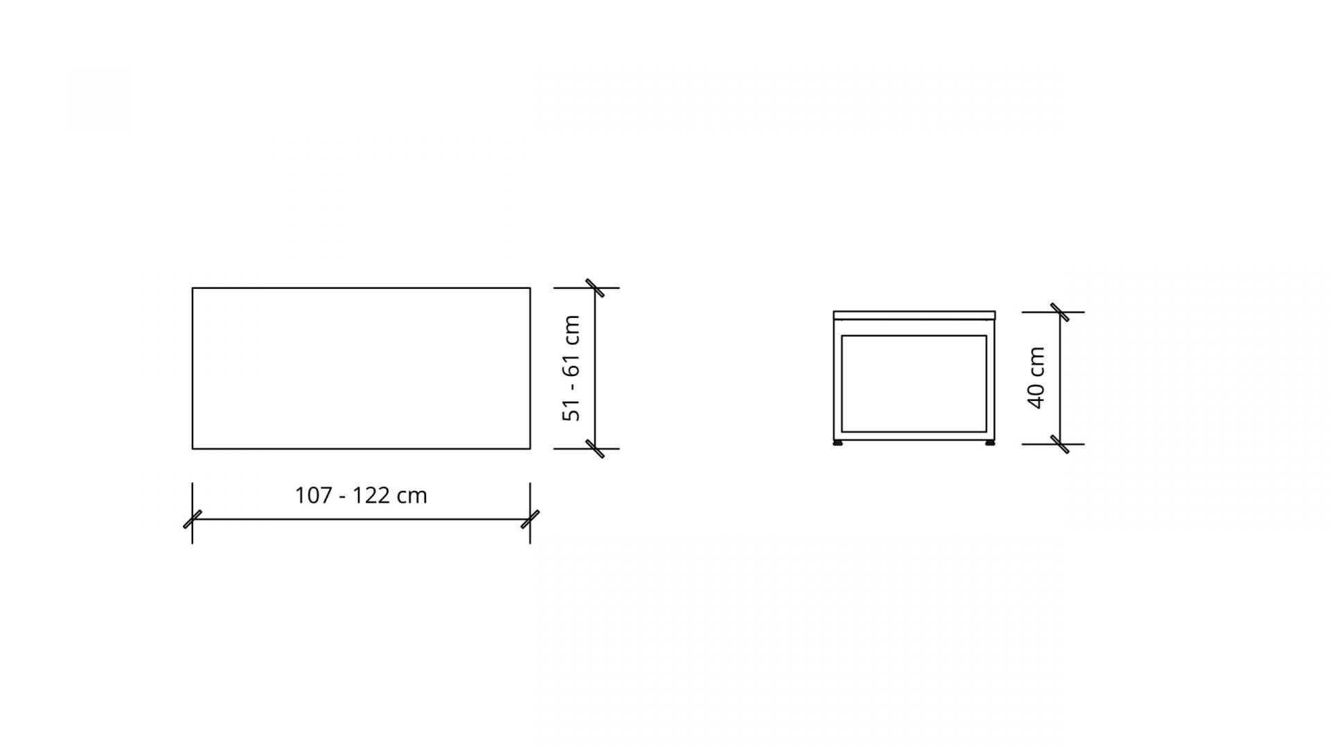 Dimensions of Rectangular Table 1658