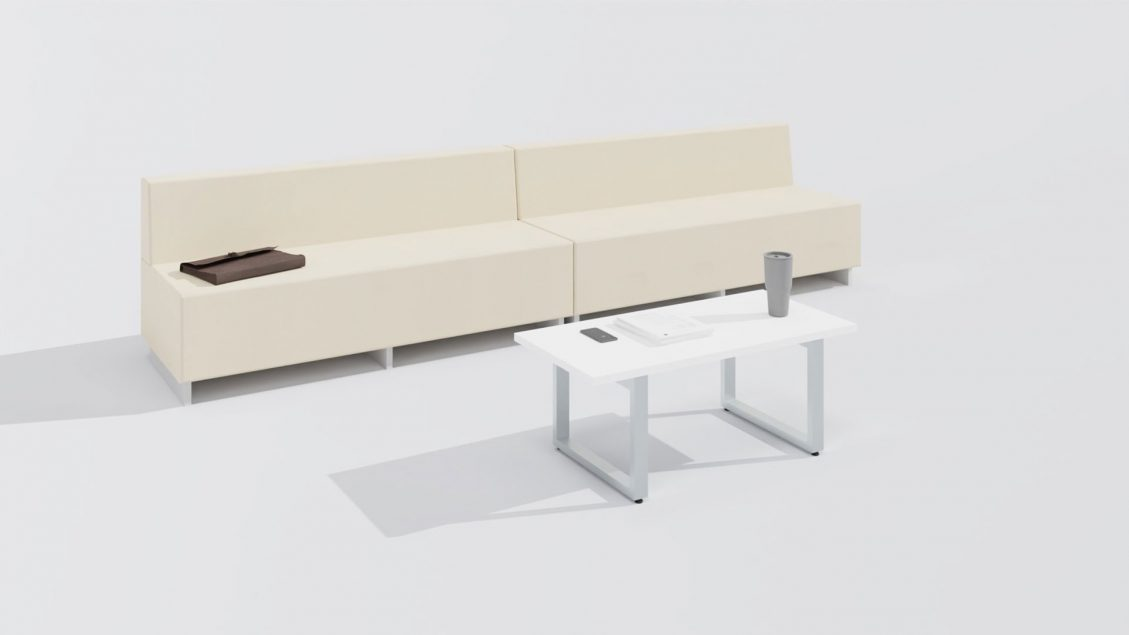 Rectangular Table 1658 with a Sofa