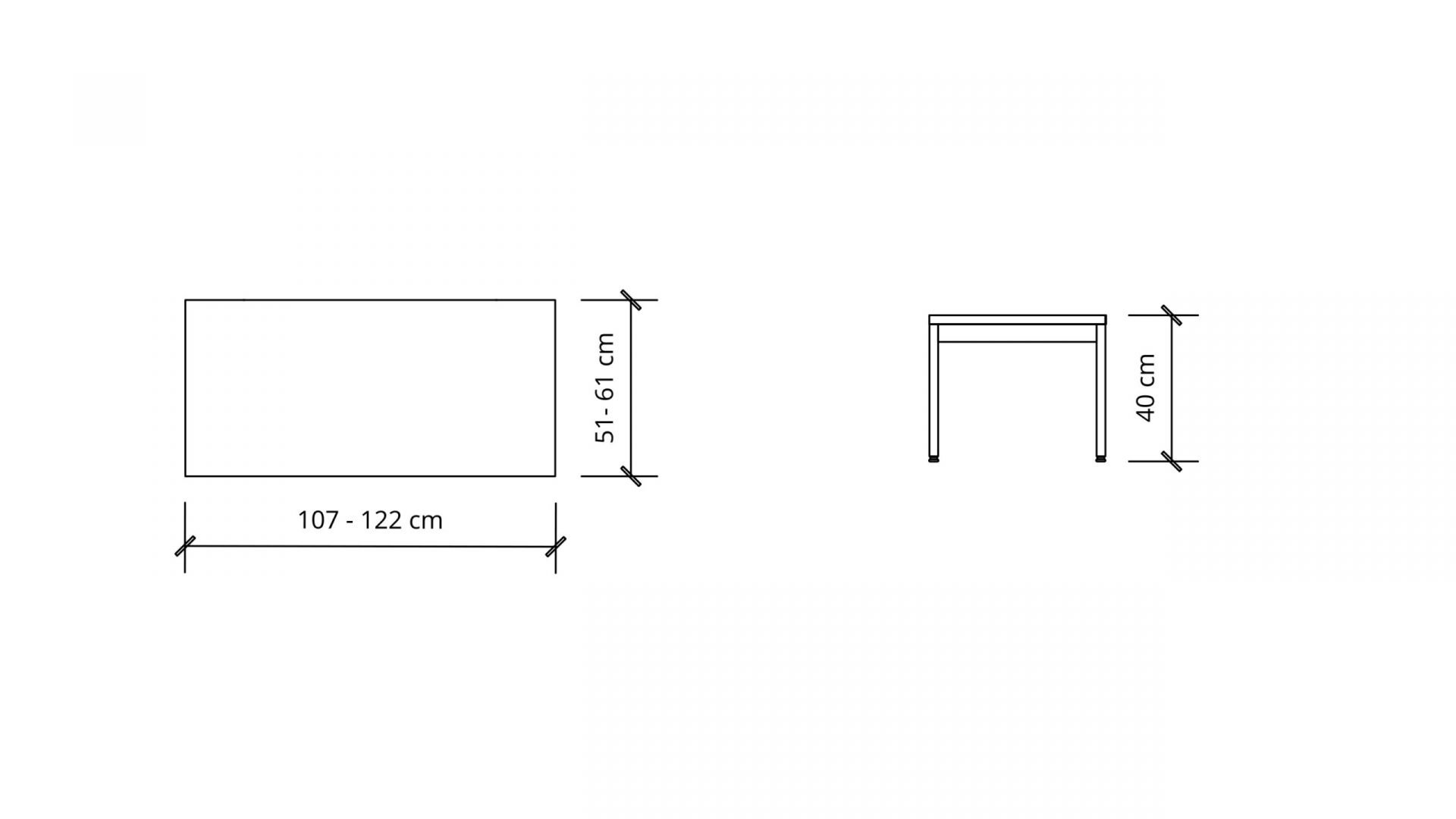 Dimensions of Rectangular Coffee Table 1659