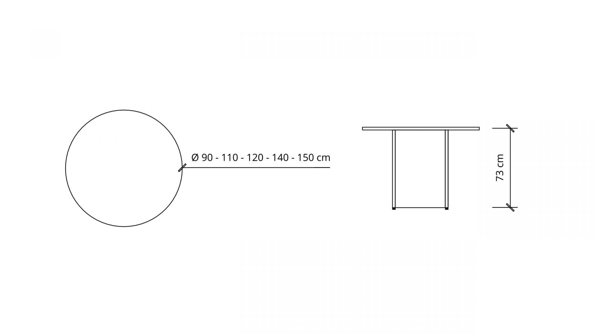 Dimensions of Round Meeting Table 1661
