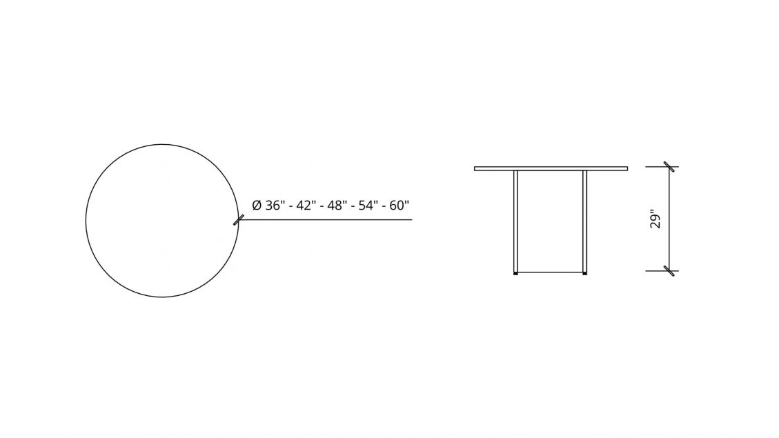 Imperial Dimensions of Round Meeting Table 1661