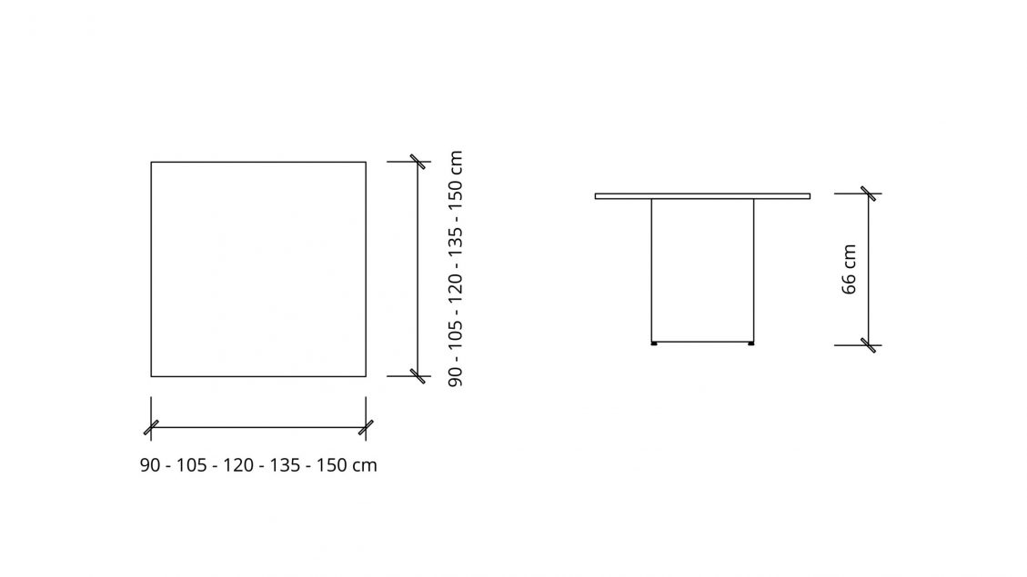 Dimensions of Square Meeting Table 1662