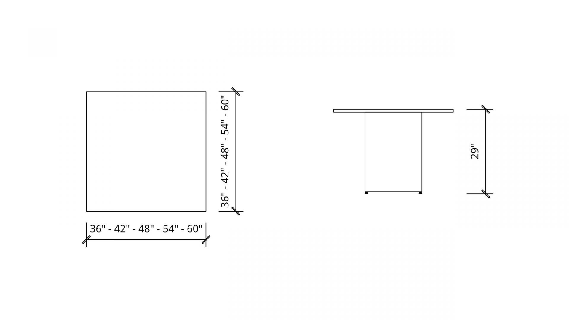 Imperial Dimensions of Square Meeting Table 1662