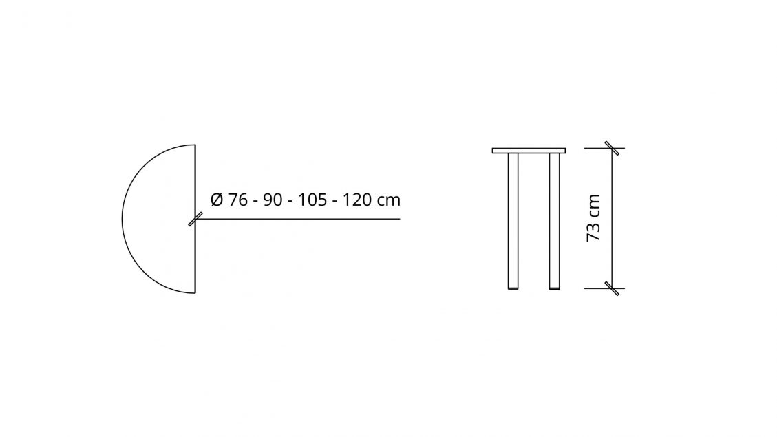 Dimensions of Half Round Meeting Table 1663