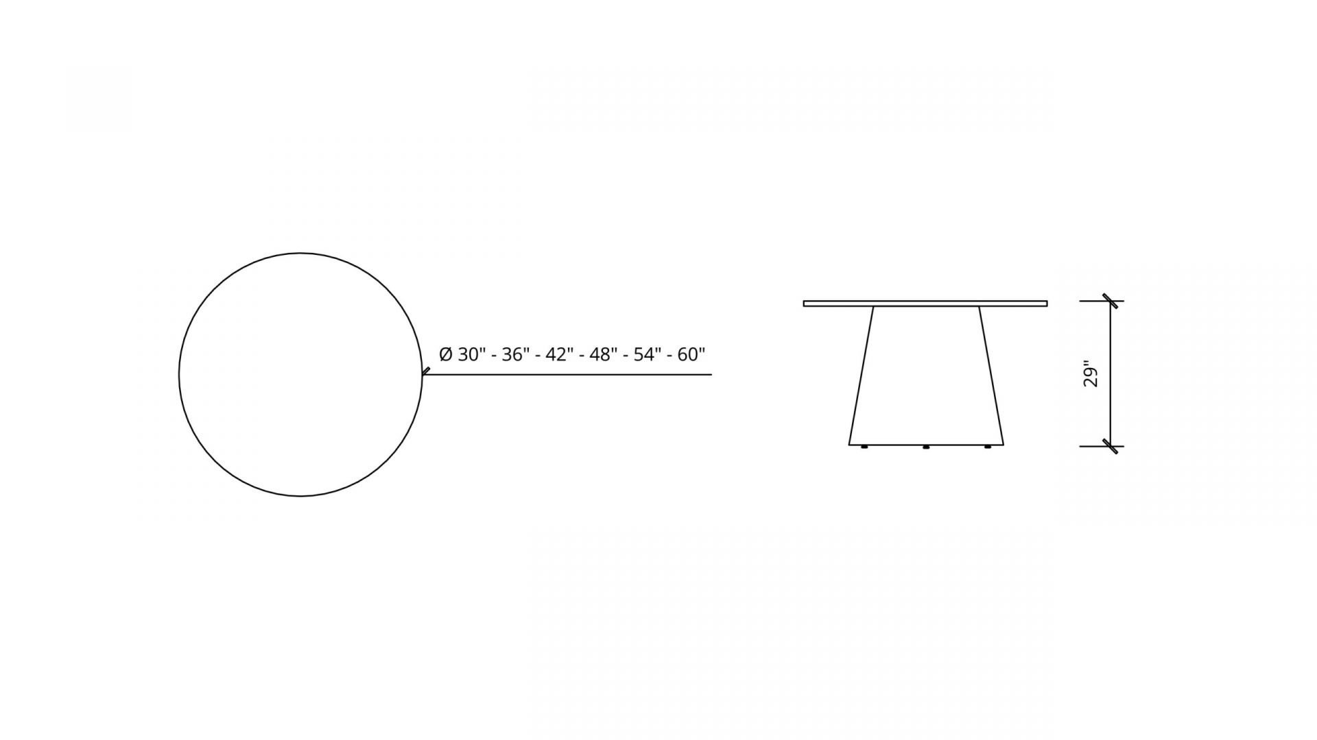 Imperial Dimensions of Round Meeting Table 1665
