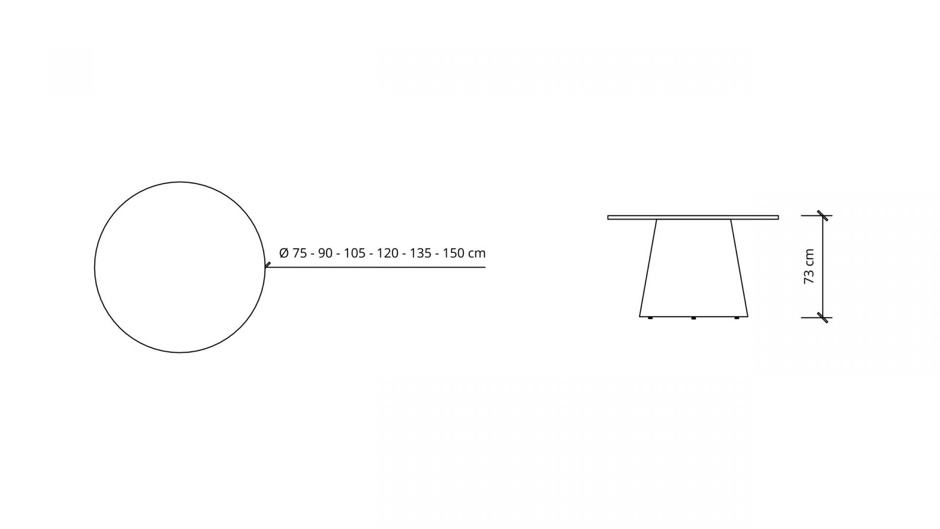 Dimensions of Round Meeting Table 1665