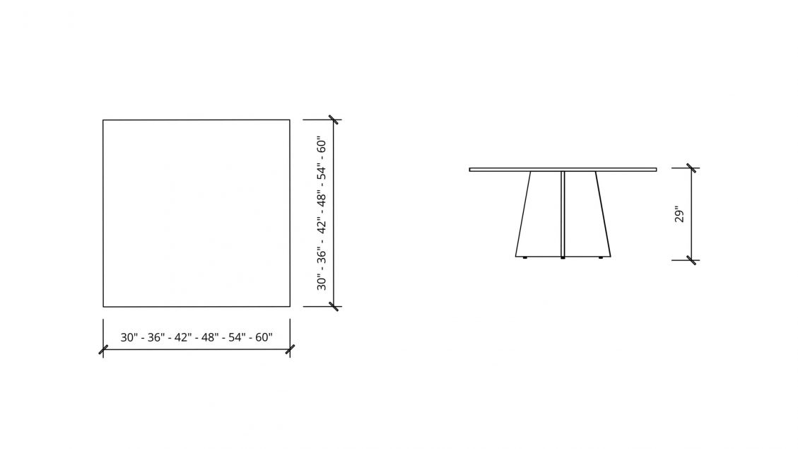 Imperial Dimensions of Square Meeting Table 1666