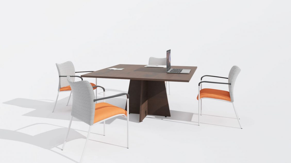 Square Meeting Table 1666 with chairs