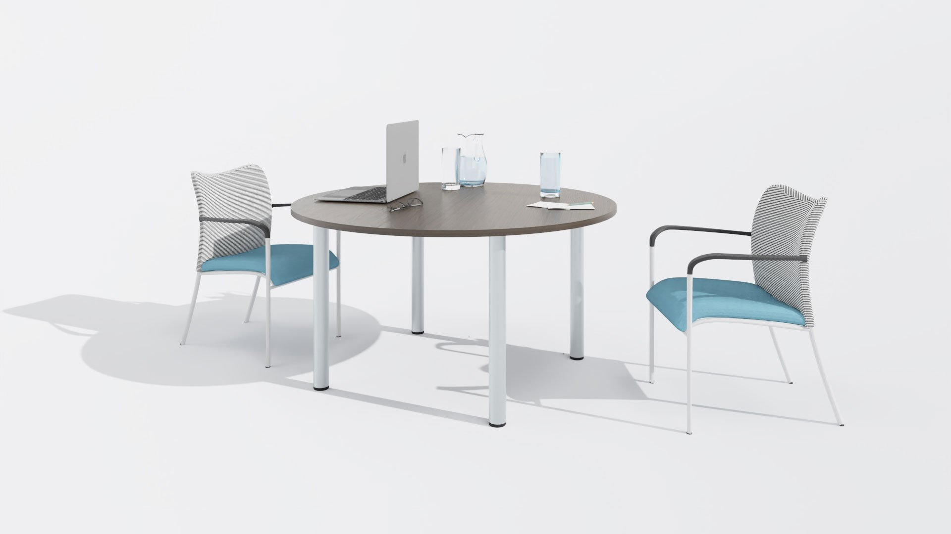 Round Meeting Table 1673 with chairs