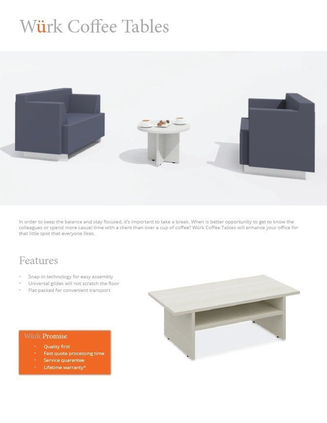 Coffee Tables catalogue front page