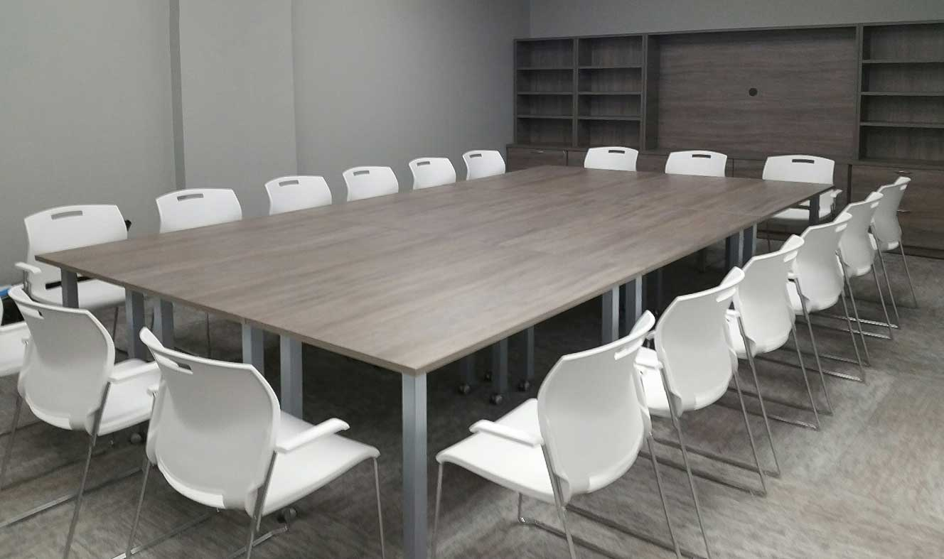 Modular Conference Table with chairs, TV cabinet with storage
