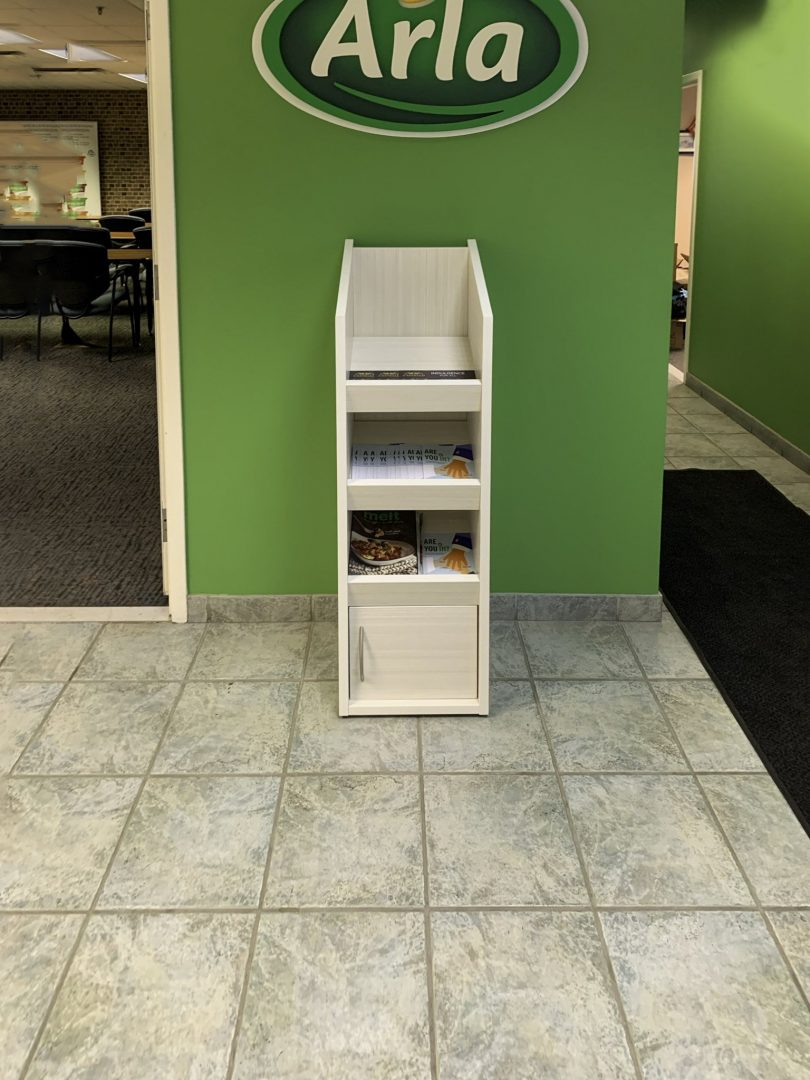 Custom Cabinet with Mixed Storage in the hallway